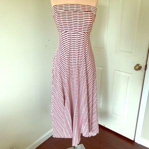 Anthropologie textured striped dress ☀️❤️💄